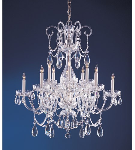 Crystorama 1035-CH-CL-S Traditional Crystal 12 Light 32 inch Polished Chrome Chandelier Ceiling Light in Swarovski Elements (S) photo
