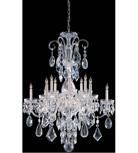 Crystorama Chrome Glass Traditional Crystal Chandeliers