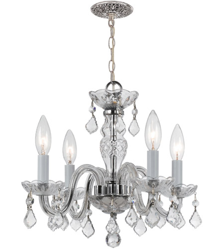 Crystorama 1064-CH-CL-I Traditional Crystal 4 Light 15 inch Polished Chrome Mini Chandelier Ceiling Light in Polished Chrome (CH), Clear Italian photo