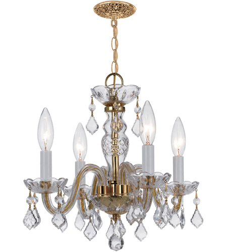Crystorama Polished Brass Chandeliers