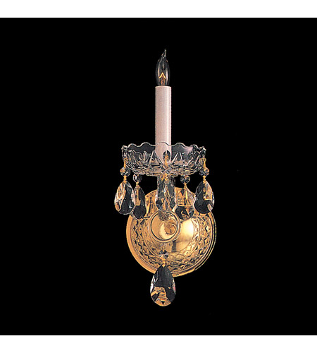 Crystorama Traditional Crystal 1 Light Wall Sconce in Polished Brass 1101-PB-CL-SAQ photo