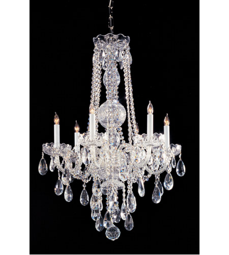 Crystorama 1105-CH-CL-S Traditional Crystal 6 Light 22 inch Polished Chrome Chandelier Ceiling Light in Clear Swarovski Strass photo