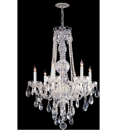 Crystorama 1106-CH-CL-S Traditional Crystal 6 Light 22 inch Polished Chrome Chandelier Ceiling Light in Clear Swarovski Strass, 22-in Width photo