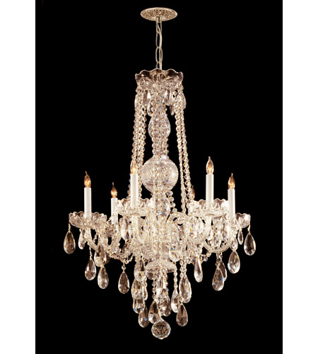Crystorama Traditional Crystal 6 Light Chandelier in Polished Brass, Swarovski Elements 1106-PB-CL-S photo