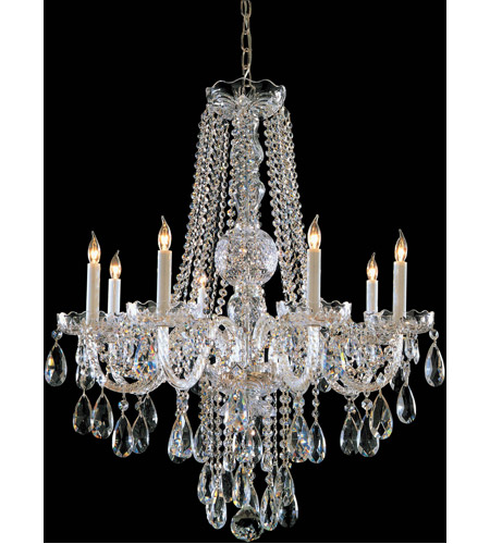 Crystorama 1108-PB-CL-MWP Traditional Crystal 8 Light 26 inch Polished Brass Chandelier Ceiling Light in Hand Cut, Polished Brass (PB) photo