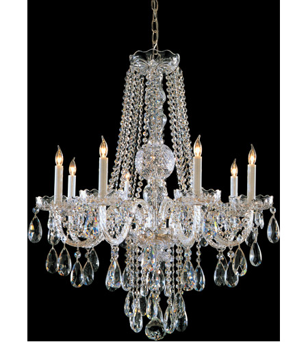 Crystorama Traditional Crystal 8 Light Chandelier in Polished Brass 1108-PB-CL-SAQ photo