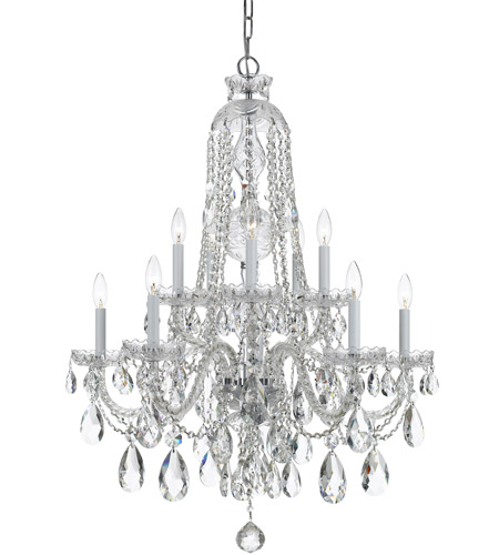 Crystorama 1110-CH-CL-S Traditional Crystal 10 Light 32 inch Polished Chrome Chandelier Ceiling Light in Swarovski Elements (S), Polished Chrome (CH) photo