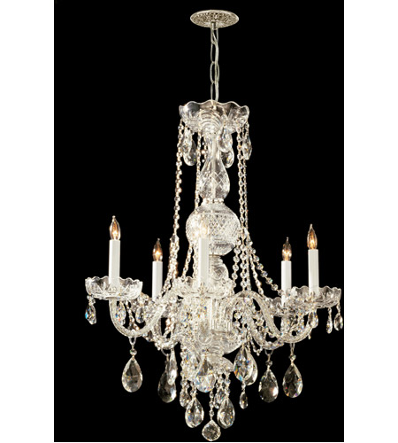 Crystorama 1115-PB-CL-SAQ Traditional Crystal 5 Light 22 inch Polished Brass Chandelier Ceiling Light in Polished Brass (PB), Swarovski Spectra (SAQ) photo