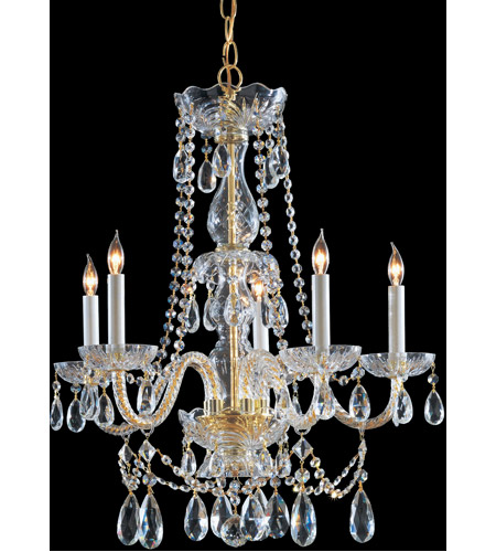 Crystorama 1125-PB-CL-S Traditional Crystal 5 Light 26 inch Polished Brass Chandelier Ceiling Light in Polished Brass (PB), Clear Swarovski Strass photo