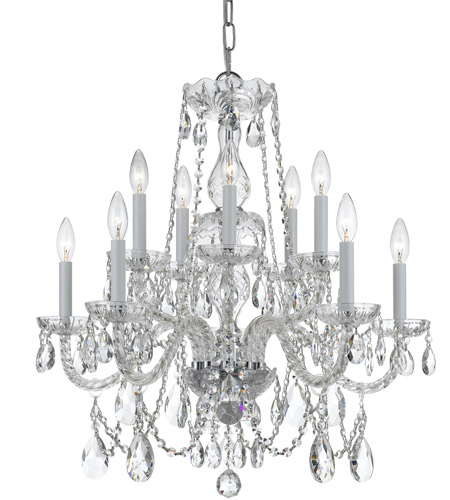 Crystorama 1130-CH-CL-SAQ Traditional Crystal 10 Light 26 inch Polished Chrome Chandelier Ceiling Light in Polished Chrome (CH), Swarovski Spectra (SAQ) photo