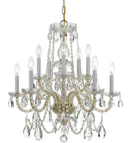 Crystorama 1130-PB-CL-S Traditional Crystal 10 Light 26 inch Polished Brass Chandelier Ceiling Light in Swarovski Elements (S), Polished Brass (PB) photo