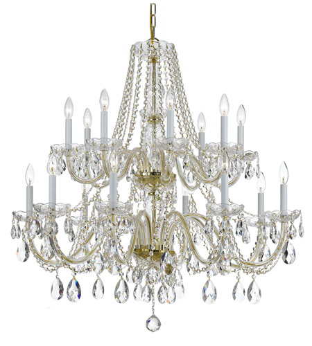 Crystorama Traditional Crystal 8 Light Chandelier in Polished Brass 1139-PB-CL-S photo