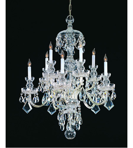 Crystorama Traditional Crystal 10 Light Chandelier in Polished Chrome, Swarovski Spectra 1140-CH-CL-SAQ photo