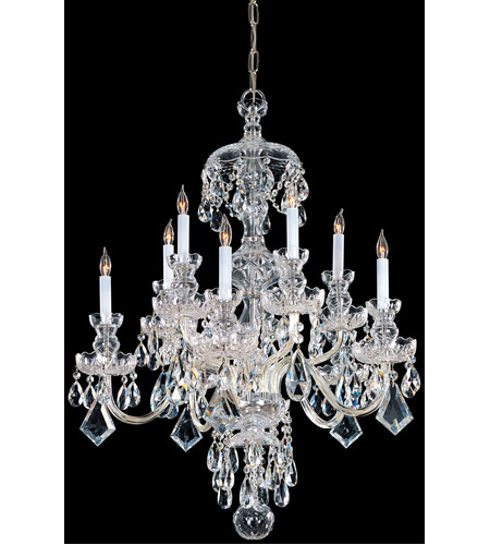 Crystorama 1140-PB-CL-SAQ Traditional Crystal 10 Light 28 inch Polished Brass Chandelier Ceiling Light in Polished Brass (PB), Swarovski Spectra (SAQ) photo