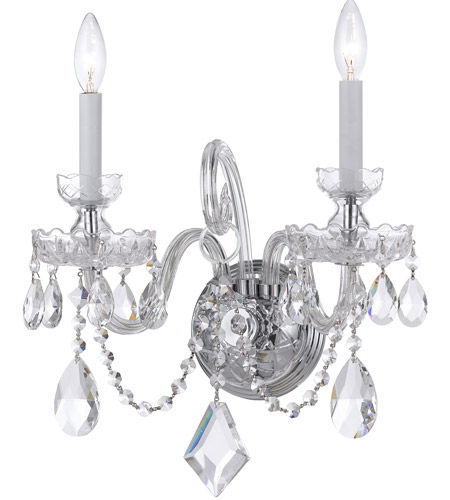 Crystorama Traditional Crystal 2 Light Wall Sconce in Polished Chrome 1142-CH-CL-MWP photo