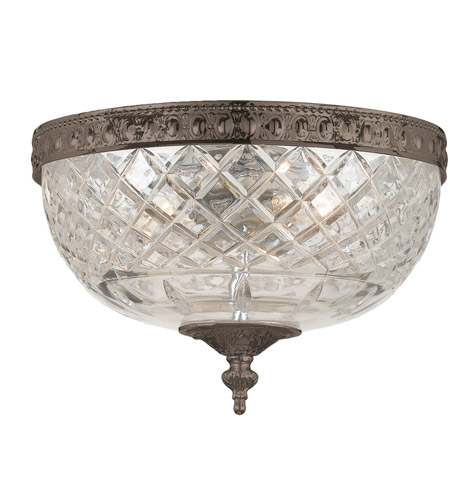 Crystorama 117-10-EB Signature 2 Light 10 inch English Bronze Flush Mount Ceiling Light in English Bronze (EB), 10-in Width photo