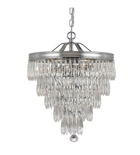 Crystorama 120-CH Chloe 3 Light 12 inch Polished Chrome Pendant Ceiling Light photo