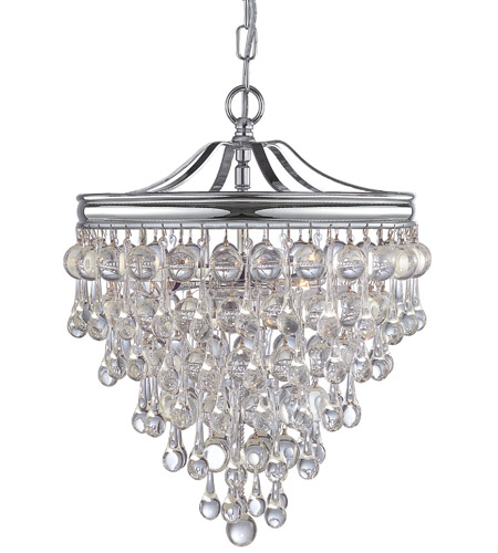 Crystorama 130 ch calypso 3 light 12 inch polished chrome mini crystorama 130 ch calypso 3 light 12 inch polished chrome mini chandelier ceiling light in polished chrome ch aloadofball Images