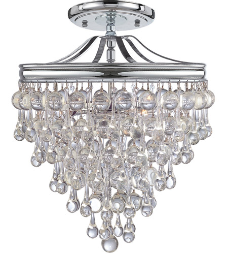 Crystorama 130-CH_CEILING Calypso 3 Light 13 inch Polished Chrome Semi Flush Mount Ceiling Light in Polished Chrome (CH) photo