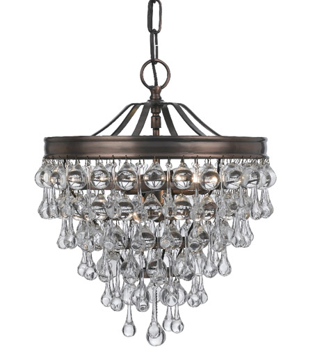 Crystorama 130-VZ Calypso 3 Light 12 inch Vibrant Bronze Mini Chandelier Ceiling Light in Vibrant Bronze (VZ) photo