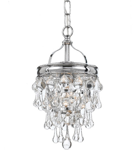 Crystorama 131-CH Calypso 1 Light 8 inch Polished Chrome Mini Chandelier Ceiling Light in Polished Chrome (CH) photo