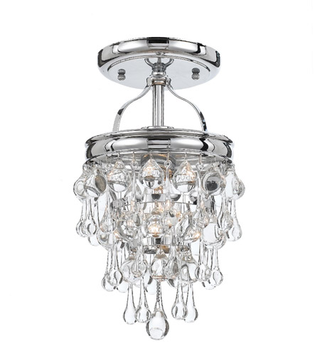Crystorama 131-CH_CEILING Calypso 1 Light 7 inch Polished Chrome Semi Flush Mount Ceiling Light in Polished Chrome (CH) photo