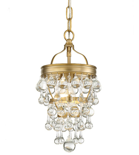 Crystorama 131-VG Calypso 1 Light 8 inch Vibrant Gold Mini Chandelier Ceiling Light photo