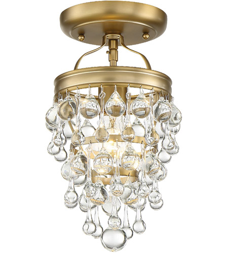 Crystorama 131-VG_CEILING Calypso 1 Light 8 inch Vibrant Gold Ceiling Mount Ceiling Light photo