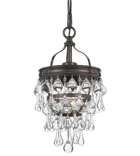 Crystorama 131-VZ Calypso 1 Light 8 inch Vibrant Bronze Mini Chandelier Ceiling Light in Vibrant Bronze (VZ) photo