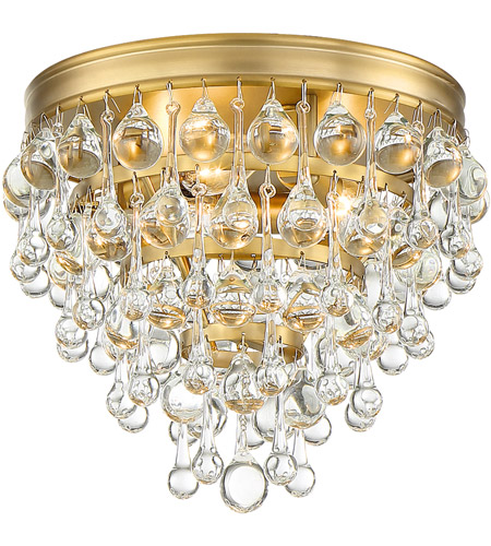 Crystorama 135-VG Calypso 3 Light 10 inch Vibrant Gold Flush Mount Ceiling Light photo