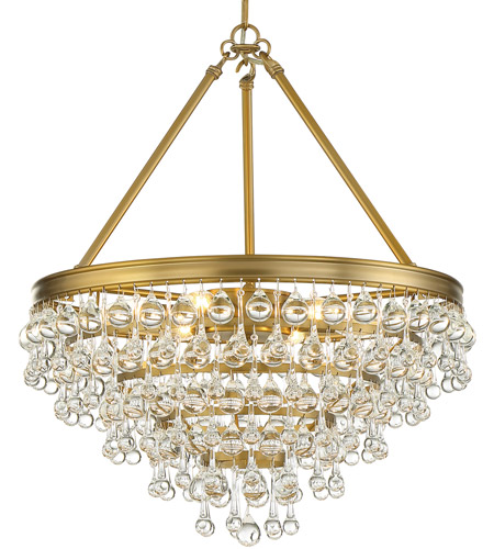 Crystorama 136-VG Calypso 6 Light 20 inch Vibrant Gold Chandelier Ceiling Light photo