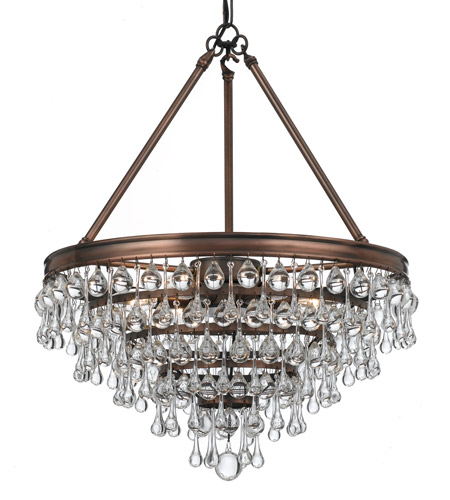 Crystorama 136-VZ Calypso 6 Light 20 inch Vibrant Bronze Chandelier Ceiling Light in Vibrant Bronze (VZ) photo