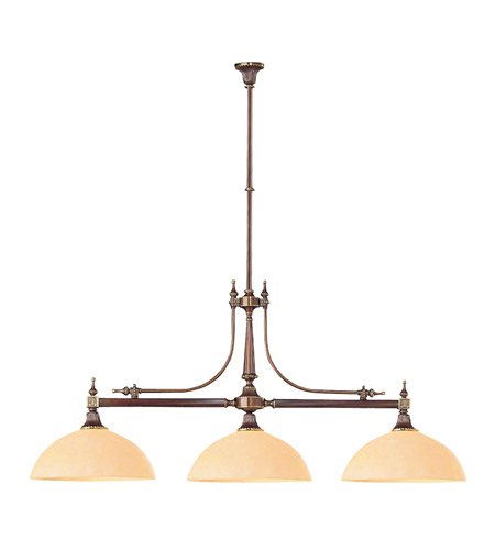 Crystorama Camden 3 Light Island Light in Roman Bronze 1363-RB photo