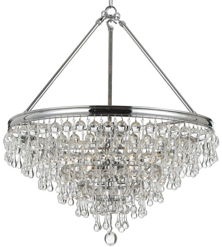 Crystorama 137-CH Calypso 8 Light 24 inch Polished Chrome Chandelier Ceiling Light in Polished Chrome (CH) photo