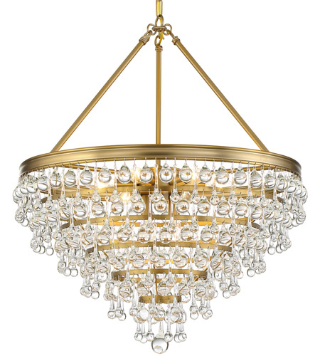 Crystorama 137-VG Calypso 8 Light 24 inch Vibrant Gold Chandelier Ceiling Light photo