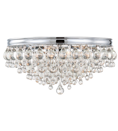 Crystorama 138-CH Calypso 6 Light 20 inch Polished Chrome Flush Mount Ceiling Light in Polished Chrome (CH) photo