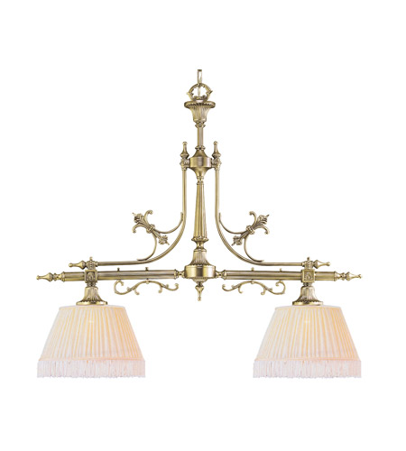 Crystorama Birmingham 2 Light Billard Light in Polished Brass 1382-PB