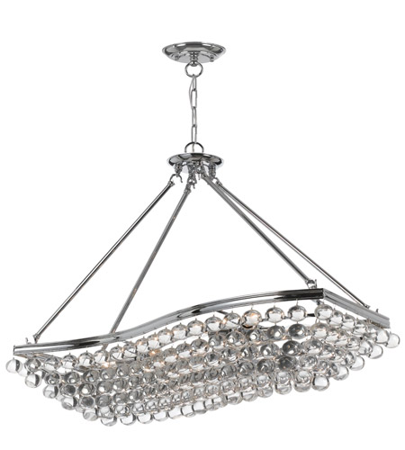 Crystorama Calypso 8 Light Chandelier in Polished Chrome 139-CH photo