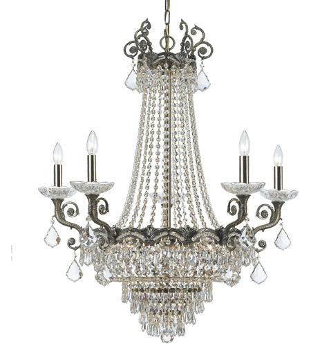 Crystorama Majestic 13 Light Chandelier in Historic Brass 1486-HB-CL-SAQ photo