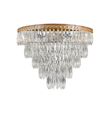 Crystorama Lighting European Classic 4 Light Flush Mount in Olde Brass & Hand Cut Clear Crystal 1514-OB-CL-MWP photo