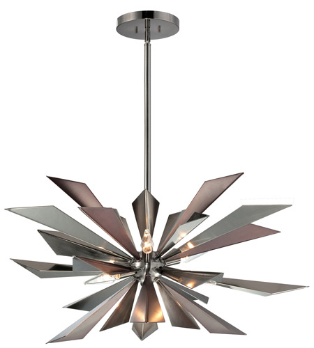 Crystorama Galaxy 7 Light Chandelier in Midnight Chrome 1529-MC photo