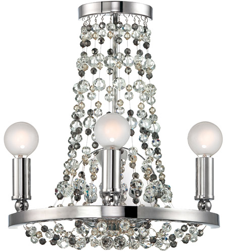 Crystorama 1542-CH-MWP Channing 3 Light 12 inch Polished Chrome Wall Sconce Wall Light in Polished Chrome (CH) photo