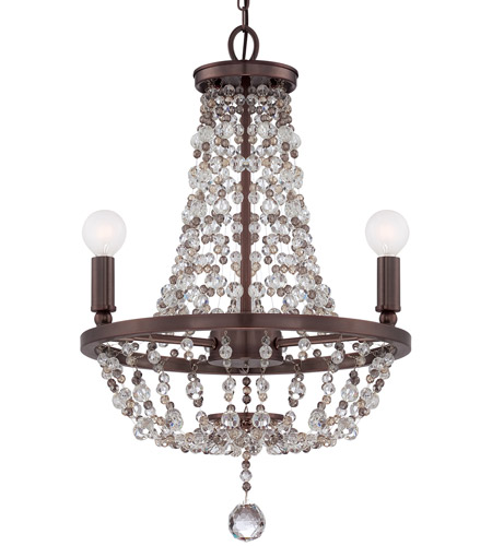 Crystorama Channing 3 Light Mini Chandelier in Chocolate Bronze 1543-CB-MWP photo