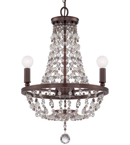 Crystorama 1543 Cb Mwp Channing 3 Light 15 Inch Chocolate Bronze Mini Chandelier Ceiling Light