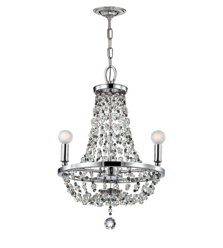 Crystorama 1543-CH-MWP Channing 3 Light 15 inch Polished Chrome Mini Chandelier Ceiling Light in Polished Chrome (CH) photo