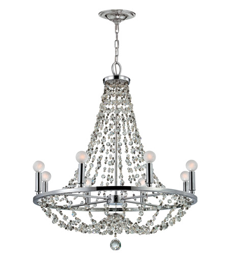 Crystorama Channing 8 Light Chandelier in Polished Chrome 1548-CH-MWP photo