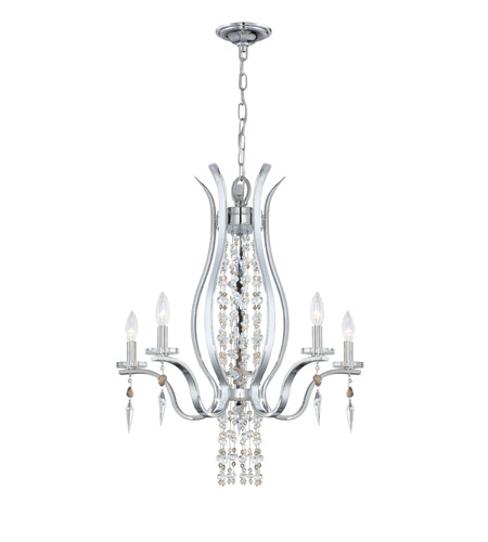Crystorama Flow 5 Light Chandelier in Chrome 1575-CH-MWP photo