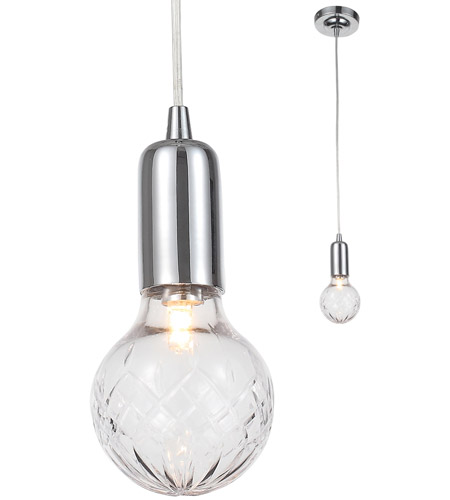 Crystorama 200-CH Essex 1 Light 4 inch Polished Chrome Pendant Ceiling Light photo