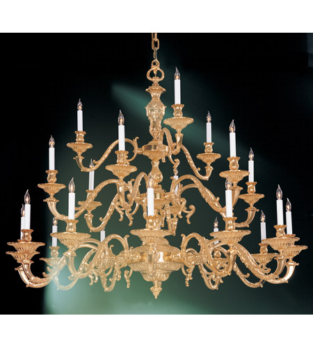 Crystorama European Classic 21 Light Chandelier in Olde Brass 2178-OB photo