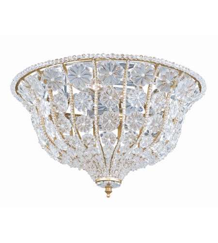 Crystorama Lighting Signature 4 Light Flush Mount in Burnished Gold & Clear 220-BG-CL photo
